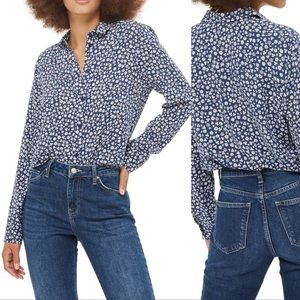 Topshop Ditsy Daisy Print Casual Shirt